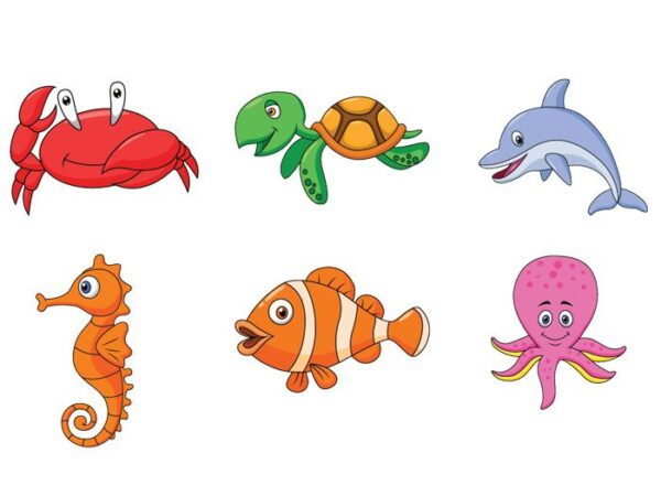 Assorted Under the Sea Characters Stickers - Aquachem