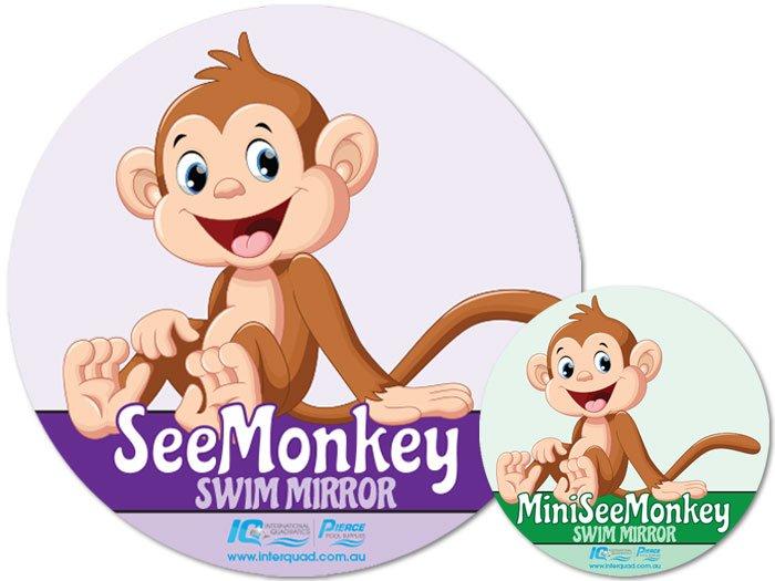 see-monkey-swim-mirror