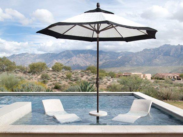 Destination Lounger with Sun Shelf Table Seashell