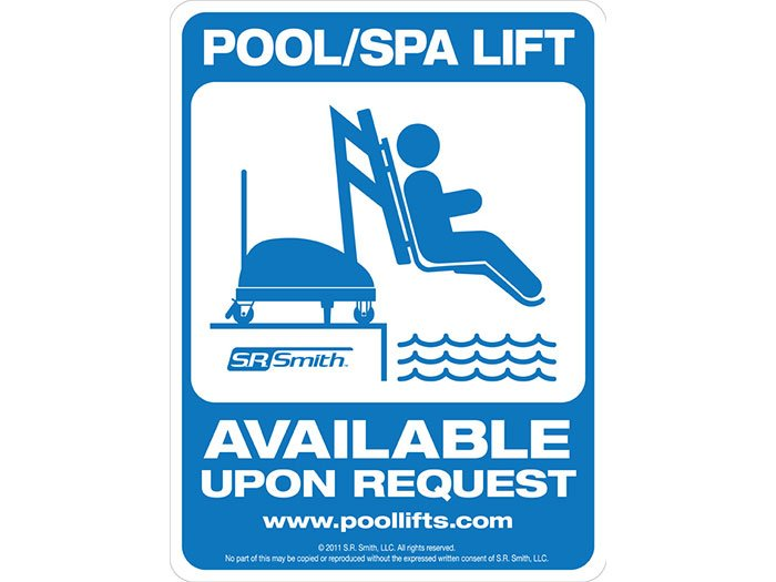 Pool Spa Lift Available On Request Sign