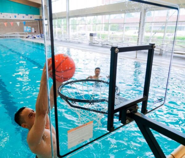 Extended Reach Basketball Game Backboard - AquaChem